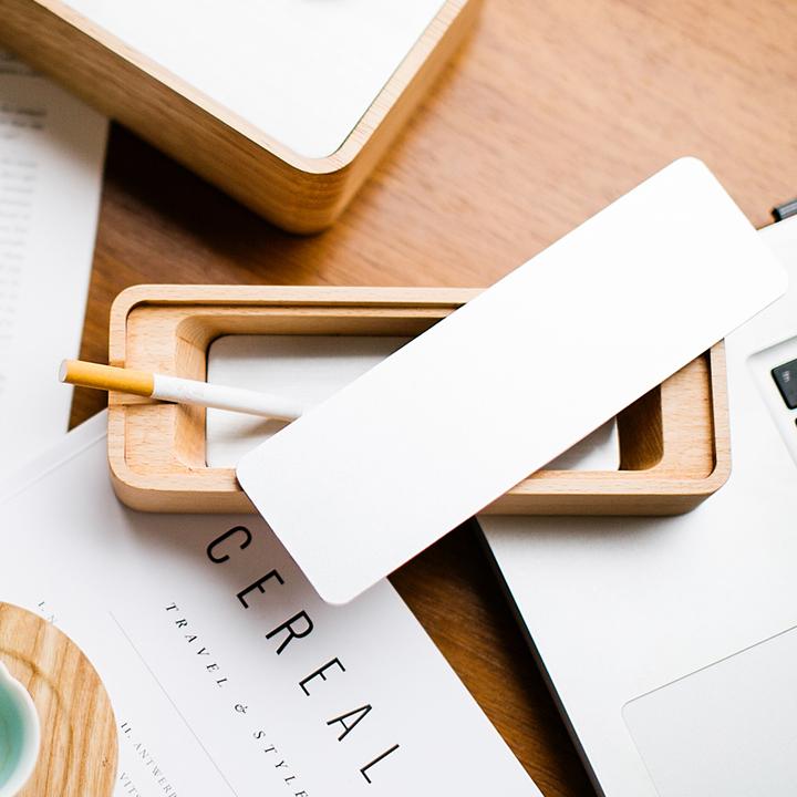 自然和家 木质烟灰缸 创意个性男士带盖烟缸 送男友生日礼物