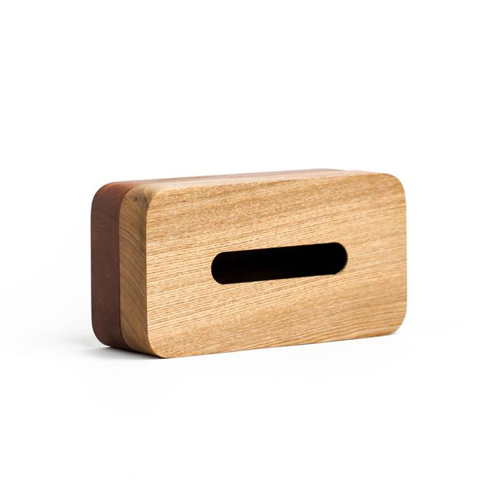 自然和家 原木制客厅纸巾盒 创意时尚简约欧式抽纸盒 层