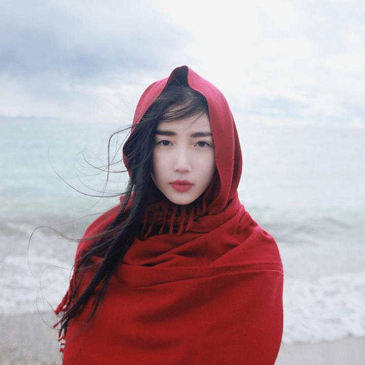2016新款围巾秋冬仿羊绒度假纯色流苏披肩张辛苑同款男女通用围巾