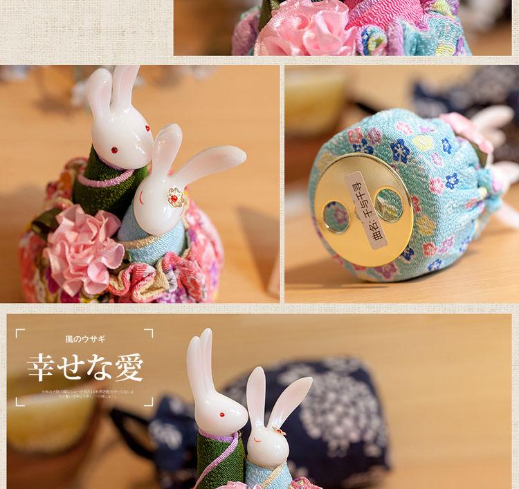 情人节情侣礼物_【【情人节礼物】和风兔子音乐盒 创意 新奇情侣闺蜜 实用生日 ...