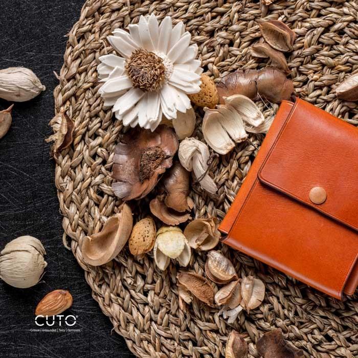 CUTO新款LOFT男女一张皮折叠手工定制钱包多开合模式真皮短款皮夹