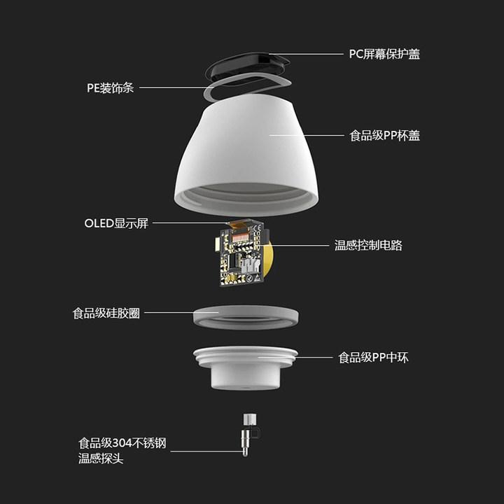 Simita智能保温杯显示温度多功能创意不锈钢便携CC杯