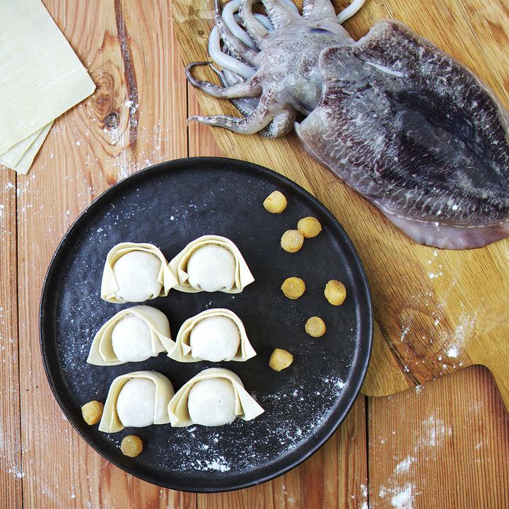 飤心暖食 | 墨鱼瑶柱手工馄饨 健康半成品料理包 顺丰