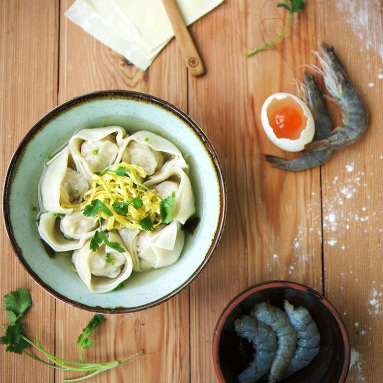 咸蛋黄+鲜虾带来鲜美,冬至暖心折扣︳6分钟快手早餐,暖心暖胃