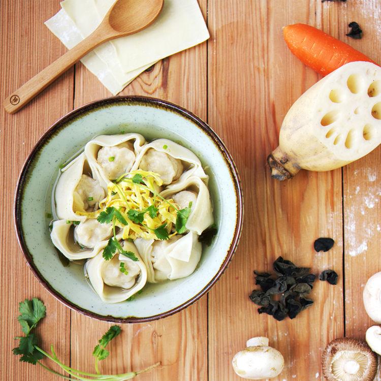 飤心暖食 | 三鲜手工馄饨 健康半成品料理包 顺丰