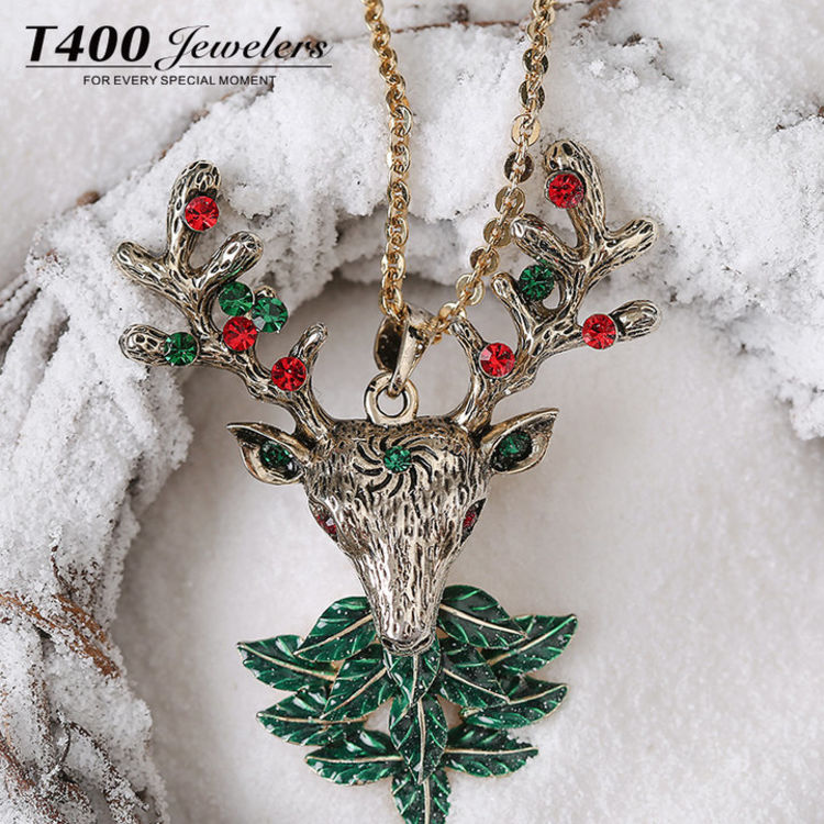 圣诞礼物小鹿毛衣链 ,圣诞首饰①:漂亮的人都开始准备过圣诞节了!