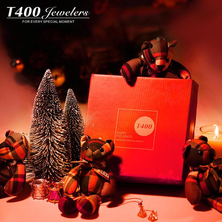 T400定制礼盒送女友简约专属创意礼物14k金十二生辰石学生系项链