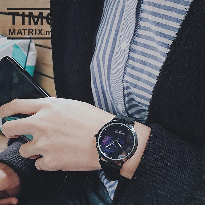 【丹麦设计师 精钢打造】 Time Matrix 繁星萤火夜光男女石英手表