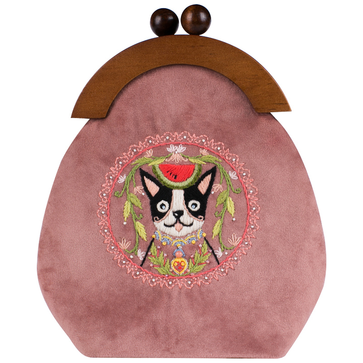 王的手创忠犬瓜公手工布艺制作材料包木柄包新手成人DIY套件