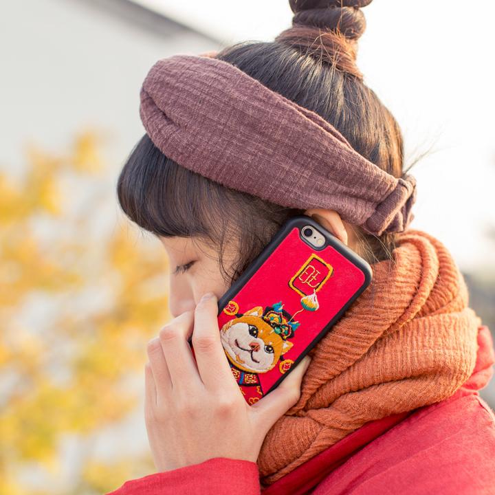 王的手创旺财阿黄原创纯手工手机壳创意狗年吉祥物生肖DIY材料包
