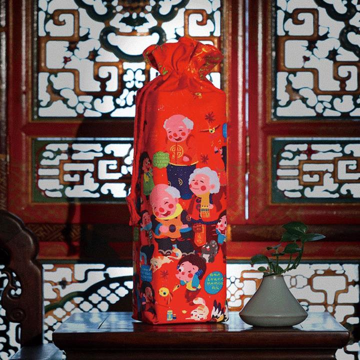 俗画说新年春联对联礼包礼盒2018狗年春节福字贴日历贴纸红包扑克