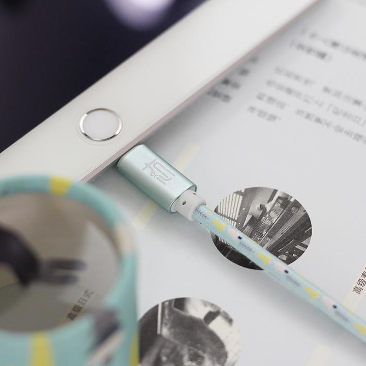 冇心创意个性iphone6s数据线 X苹果7快充电线8通用安卓华为type-c