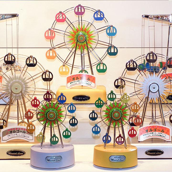 台湾有熊氏巴黎铁塔摩天轮音乐盒 情人节礼物