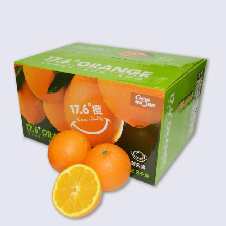 赣南脐橙4.5斤礼盒包邮  17.6度橙黄金果
