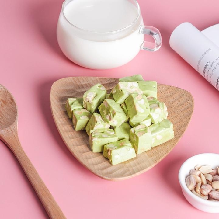 味BACK | 台湾小粒牛轧糖 抹茶花生