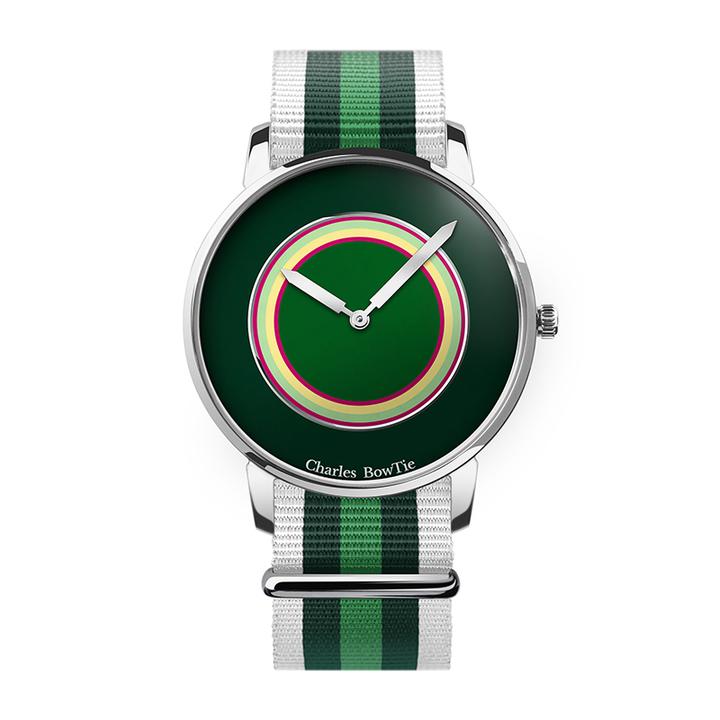 英国charles bowtie查尔斯领结CBT手表时尚潮流多彩色石英表绿色