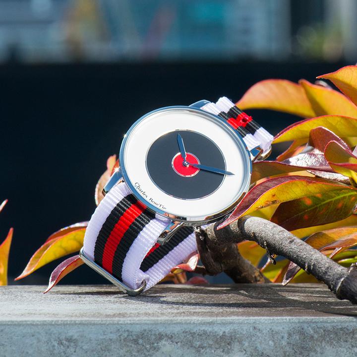 英国charles bowtie查尔斯领结CBT手表时尚潮流多彩色石英表薄款