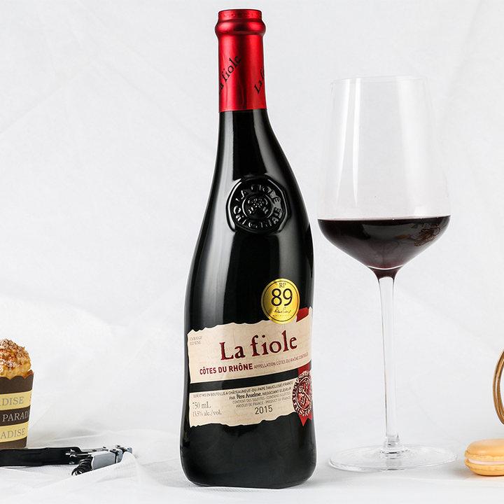 法国进口歪脖子干红葡萄酒750ml含礼盒
