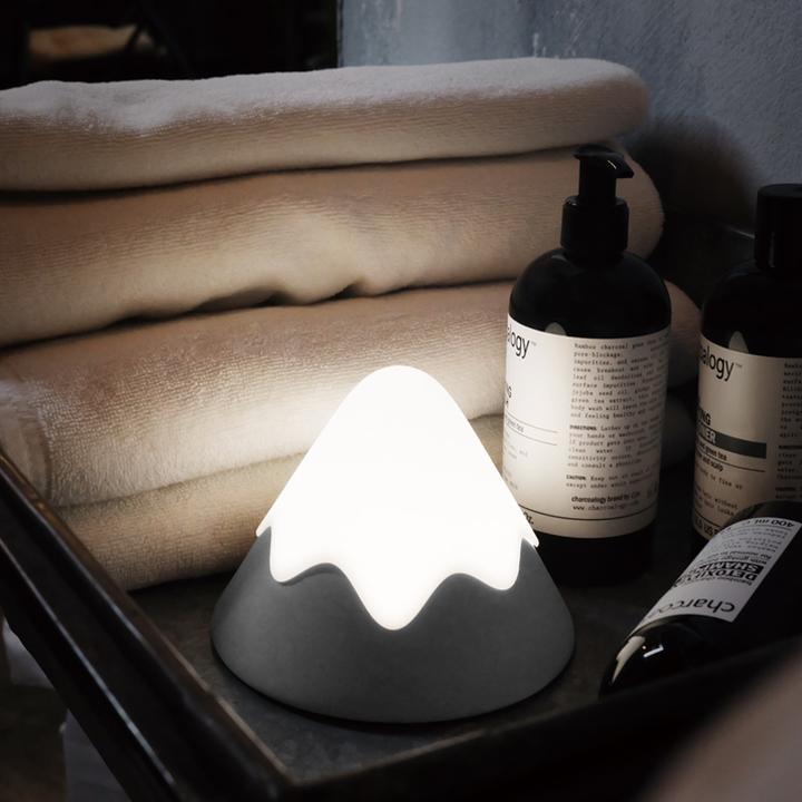 雪山灯 安睡小夜灯氛围灯渐变光 创意节能床头LED灯 硅胶