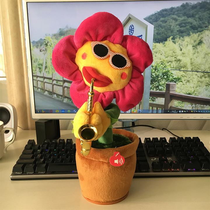 向日葵电动太阳花创意礼物