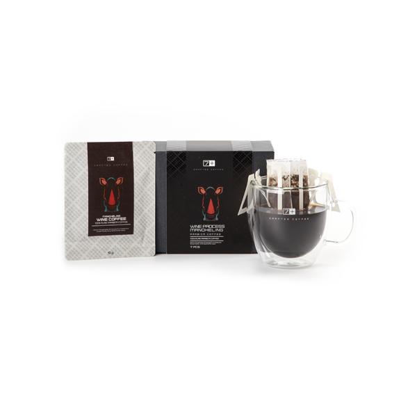 七加咖啡印尼进口红酒发酵法曼特宁现磨滴滤挂耳咖啡