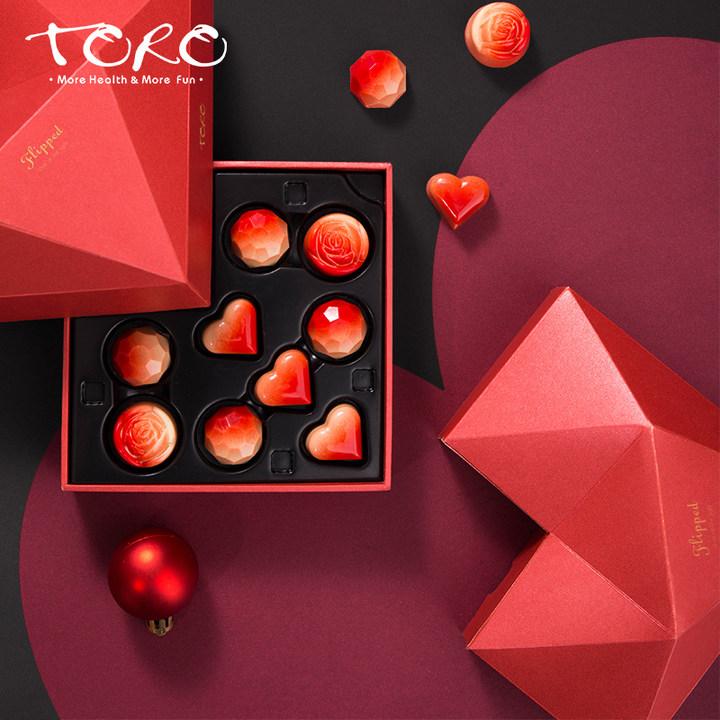 TORO七夕情人节心形巧克力礼盒装送女友手工夹心情侣高端表白礼物