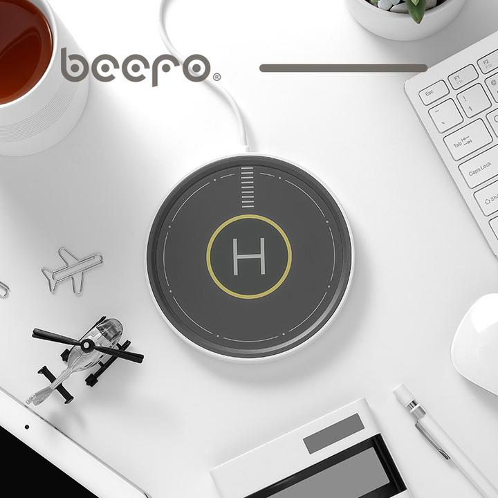 BeeFo停机坪 恒温杯无线充电加热底座家用办公室实用高档保温杯垫