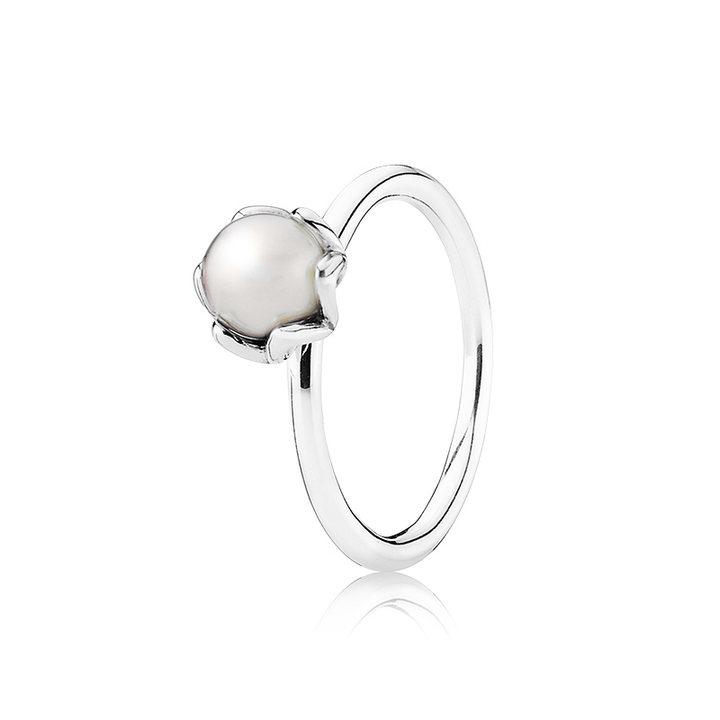 PANDORA潘多拉925银珍珠戒指