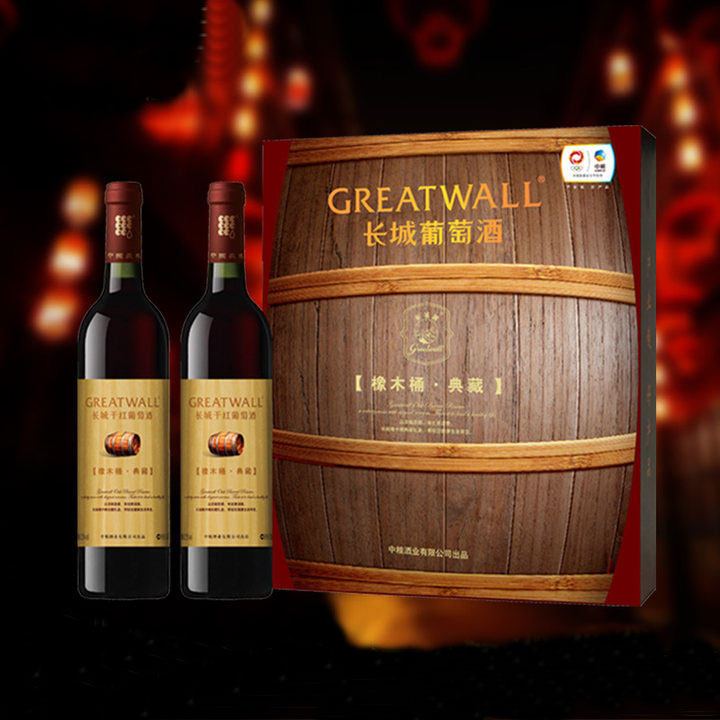 橡木桶典藏解百纳红酒礼盒