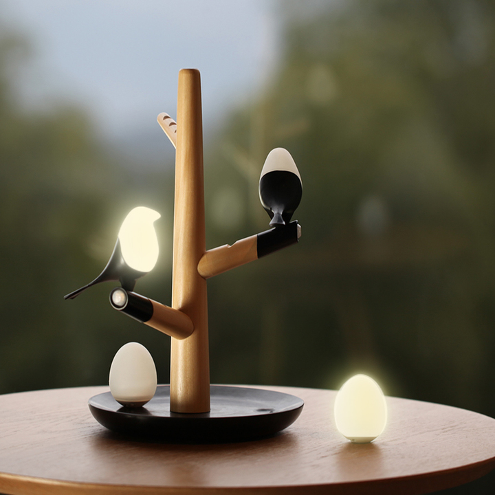 喜上梢喜鹊usb充电人体感应夜灯