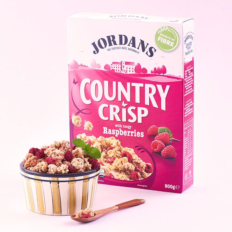 JORDANS覆盆子椰丝全谷物香脆麦片500g/盒