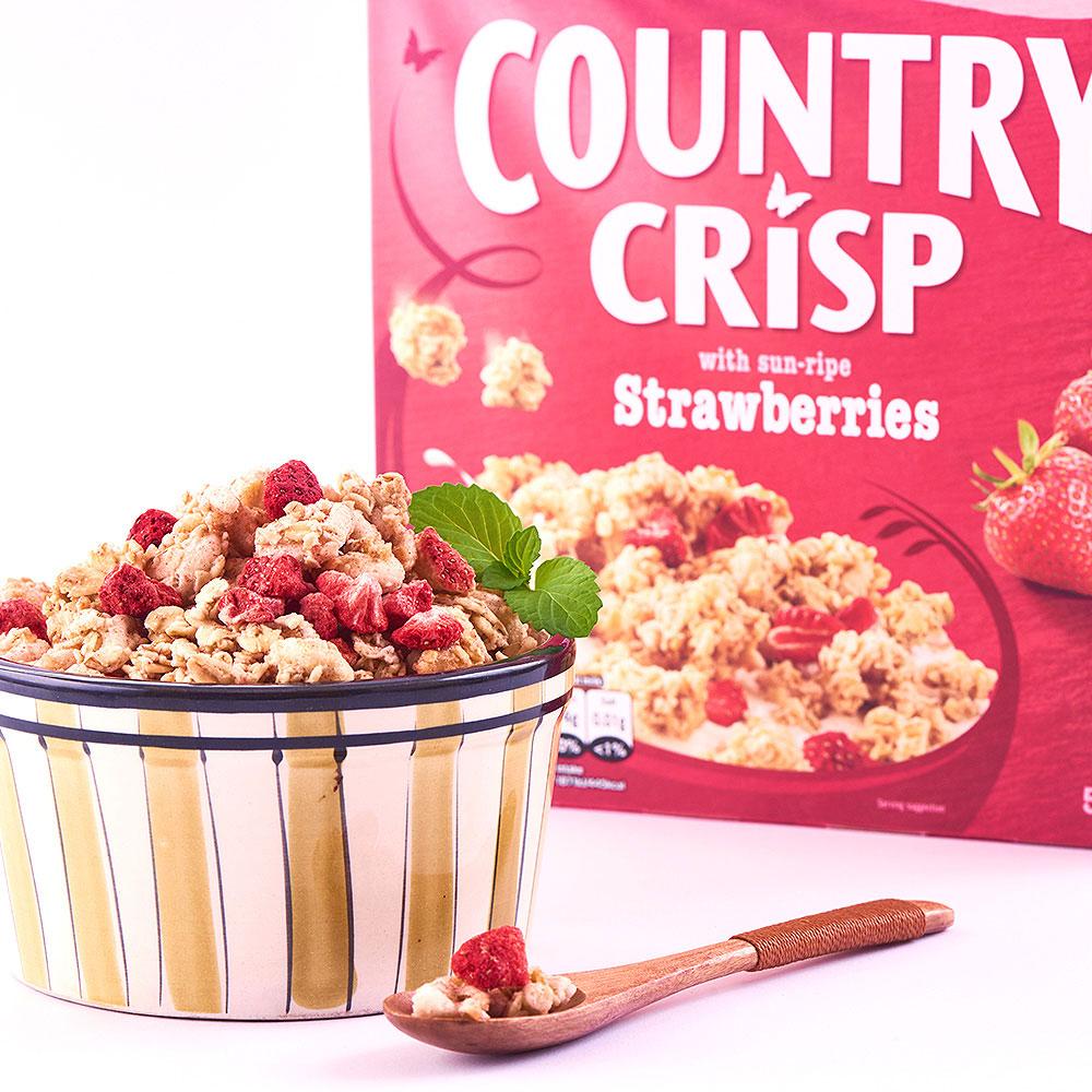 【泡牛奶的好搭档】JORDANS草莓椰丝全谷物香脆麦片500g/盒