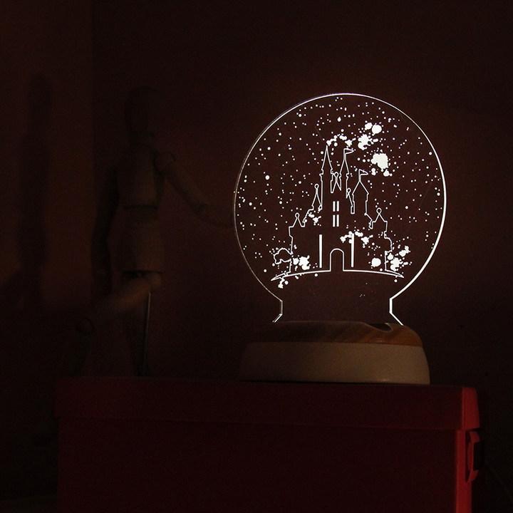 3D立体多功能伴睡小夜灯