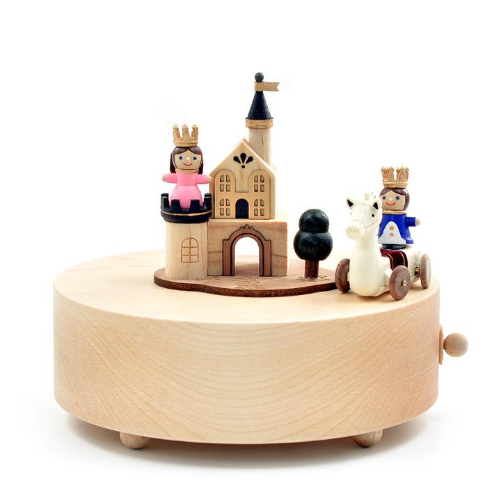 jeancard白马王子与公主八音盒