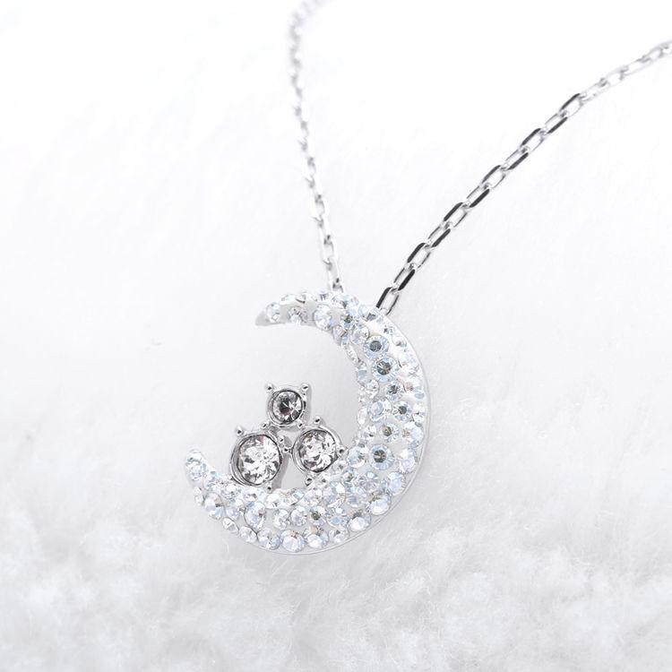 施华洛世奇月亮项链,【6折起】用施华洛世奇水晶来捕捉她的芳心吧
