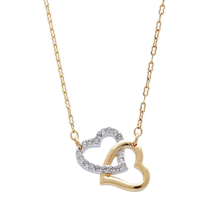 双色MATCH项链,【6折起】用施华洛世奇水晶来捕捉她的芳心吧