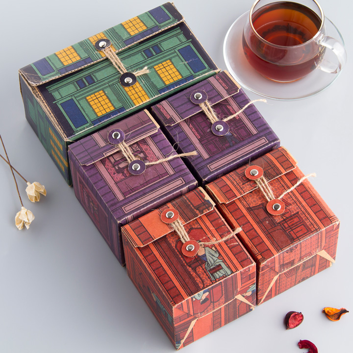 叶小七石库门复古系列8种茶叶精装礼盒套组