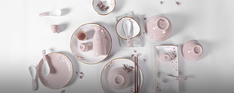 樱花餐具+水具=一年都是樱花季