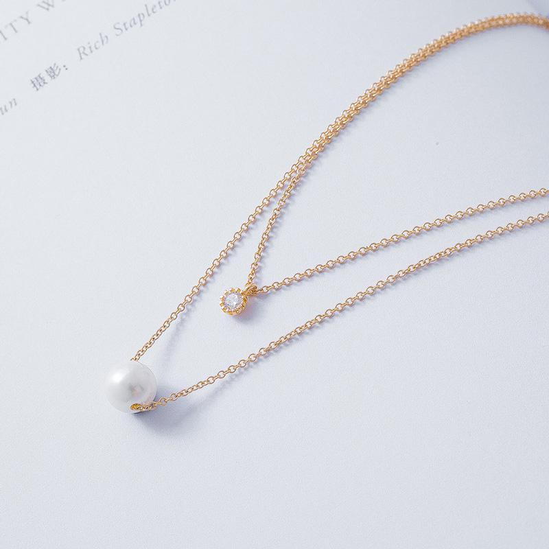 AFFINER  14KGold filled 淡水珍珠 清恬系列优雅项链AFP2076