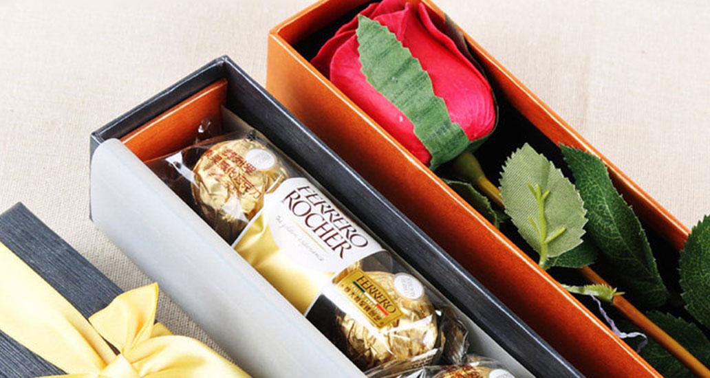 玫瑰花+巧克力,给你的爱都是双倍!