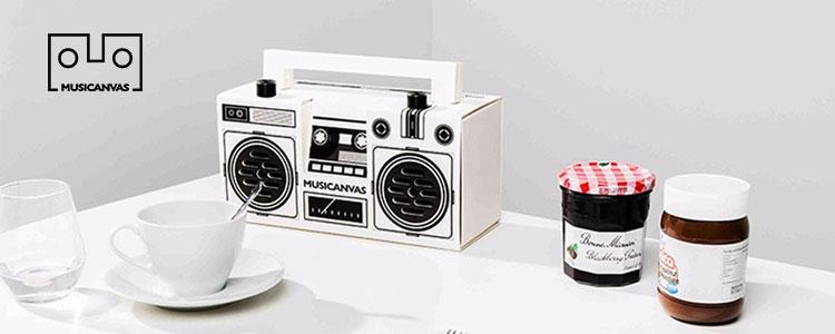 【8折】Musicanvas:音乐画布,创意纸质蓝牙音箱