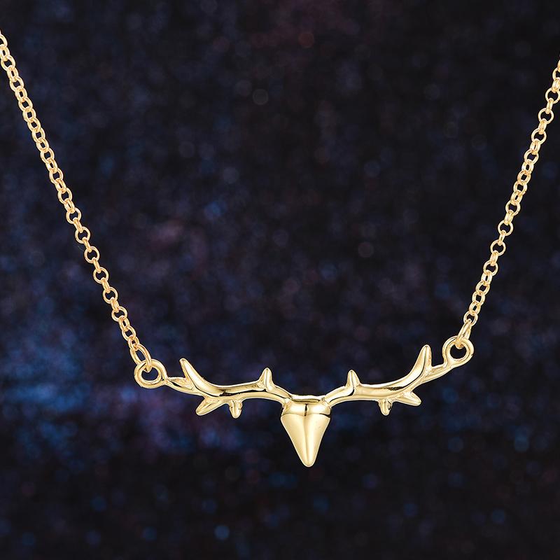 """Lily Charmed 英国设计师品牌""""自由生活""""金色鹿角 项链锁骨链 手工打造"""