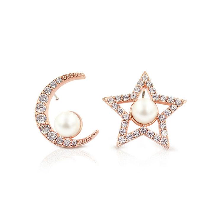 Glam Ever 魅力星月系列 Love Pearl 星月珍珠耳钉 CE1402