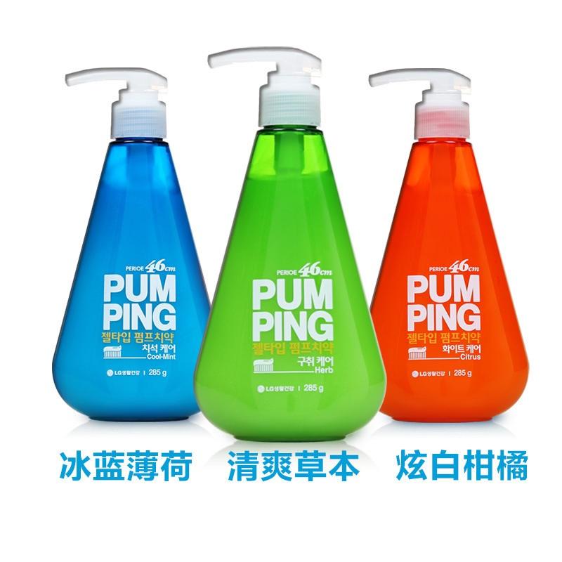 韩国 LG 压式液体牙膏 285g(3种口味可选)