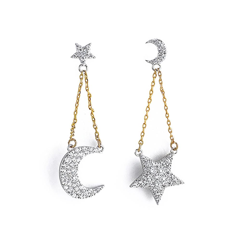 Glam Ever 魅力星月系列 Look at u 星月长坠耳环 CE1401