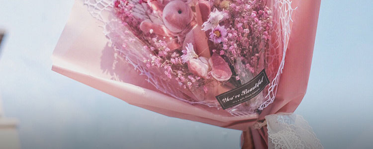 不凋零的干花花束,帮你留住浪漫
