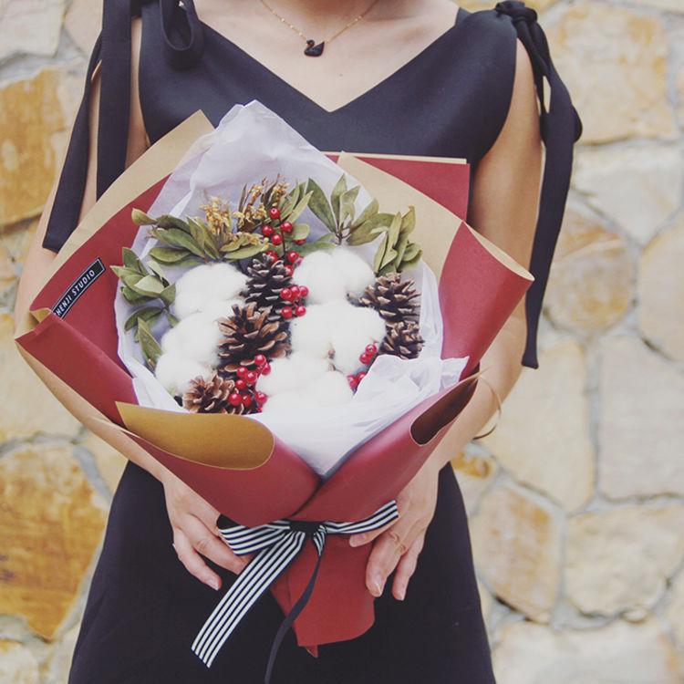 韩式花束干花,浪漫告白|送Ta一束永不凋谢的花
