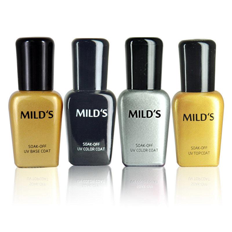 曼思(MILD'S)指甲油胶美甲工具套装 进口 初学者光疗机灯套(银黑)(指甲油 美甲)