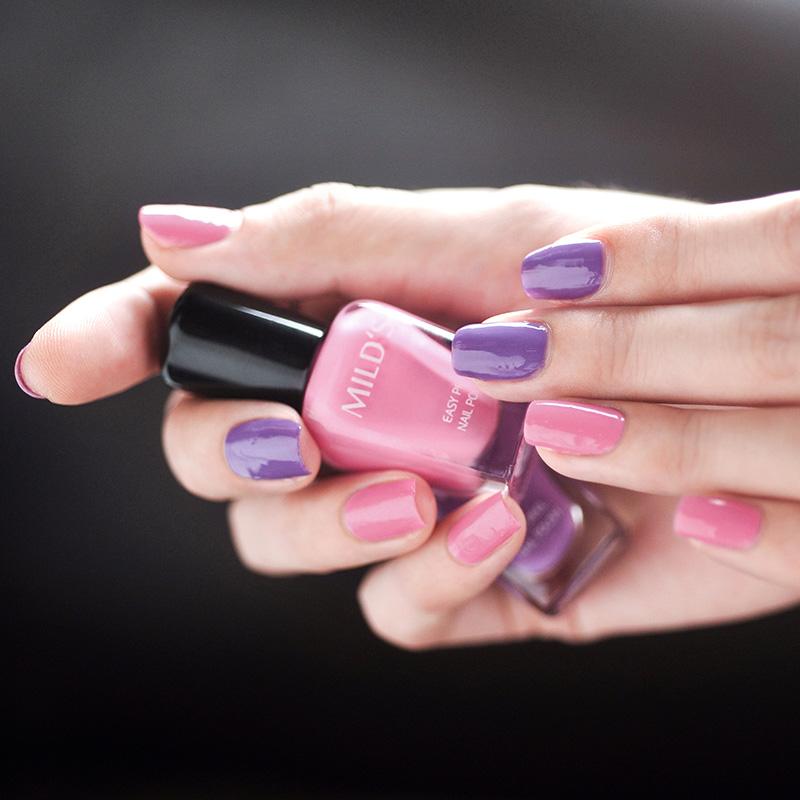 曼思(MILD'S)无味 环保 孕妇可用 指甲油 紫语凝眸套装7ml*2(美甲)