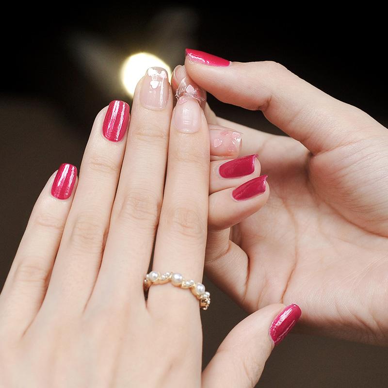 曼思(MILD'S)无味 环保 孕妇可用 指甲油 蔷薇之吻套装7ml*2(美甲)